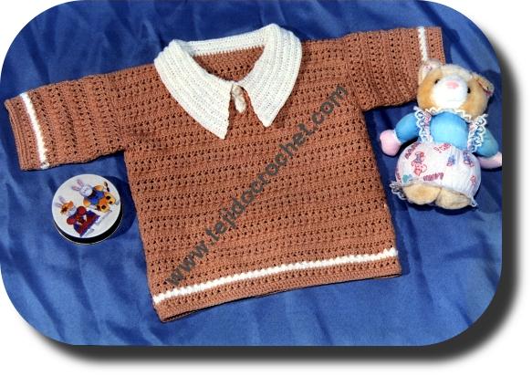 Remera para bebe en tejido crochet