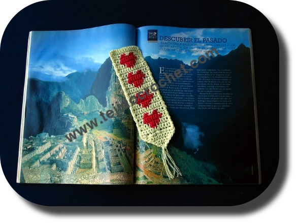 Senalador romantico en tejido crochet