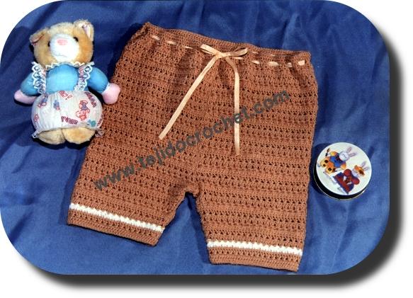 Short para bebe en tejido crochet