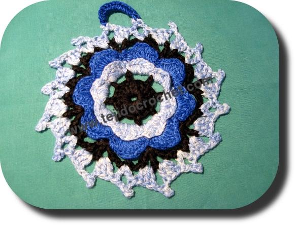 Agarradera tejida a crochet