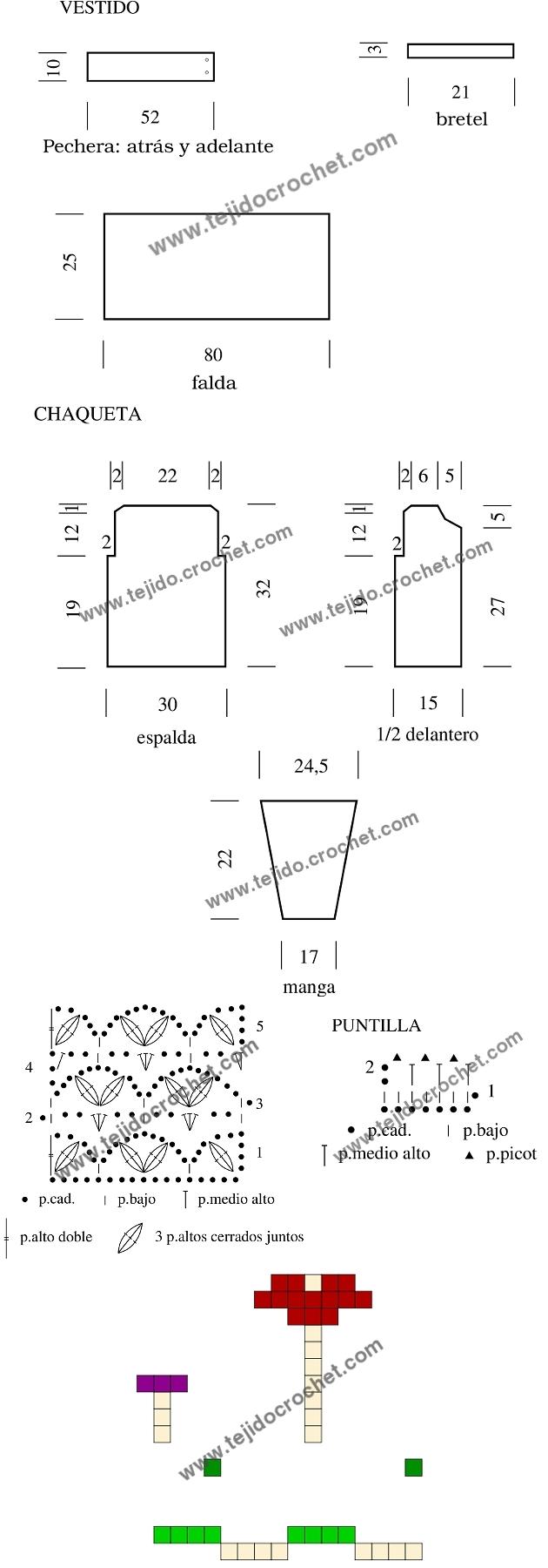 Patrón del conjunto tejido a crochet
