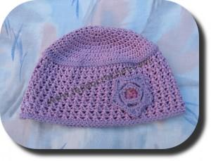 Gorro para niña a crochet
