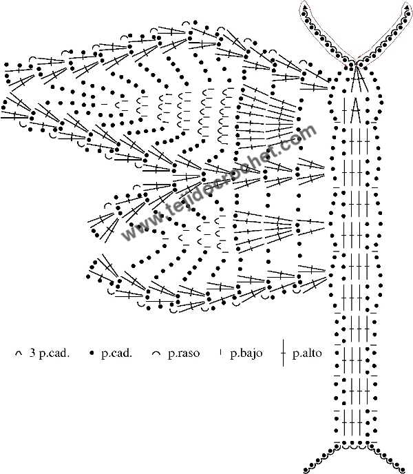 Mariposa colgante en tejido crochet o ganchillo – TEJIDO CROCHET