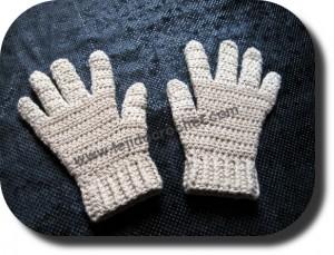 Guantes tejidos a crochet