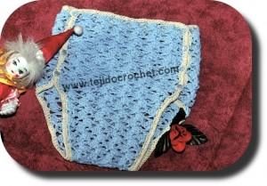 Porta pañal tejido a crochet