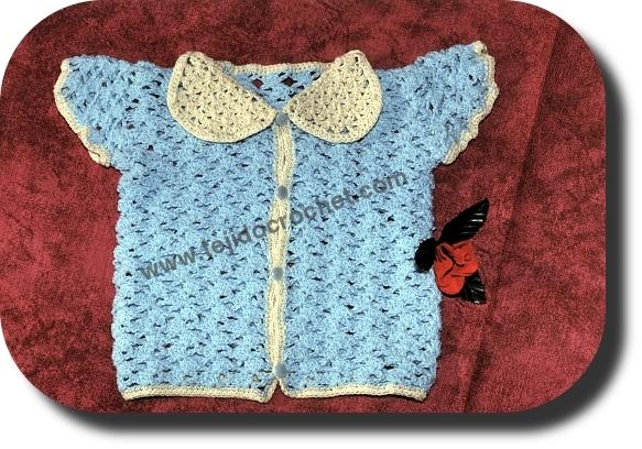 Saco para bebe tejido a crochet