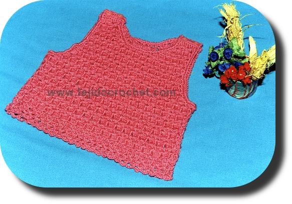 Top tejido a crochet