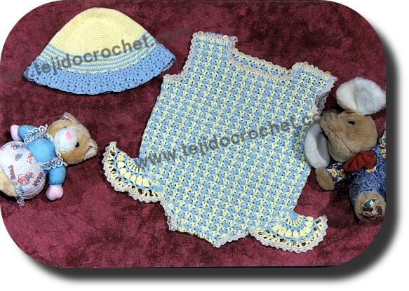 Capelina y malla a tejido a crochet