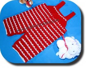 Jardinero para bebe tejido a crochet