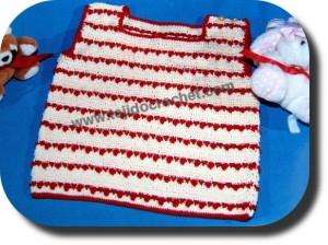 Remera para bebe tejida a crochet