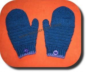 Guantes mas manoplas tejidos a crochet