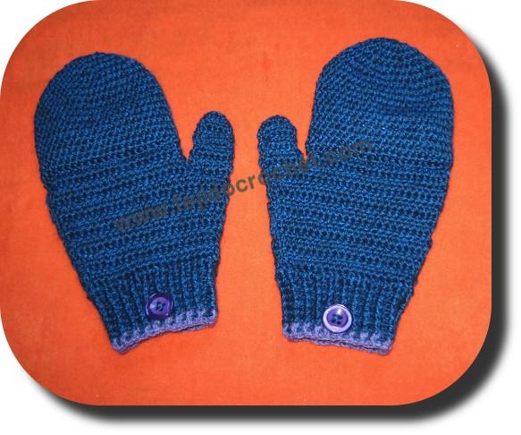 Guantes mas manoplas en tejido crochet o ganchillo – TEJIDO CROCHET