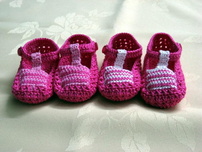 Sandalias crochet para bebe