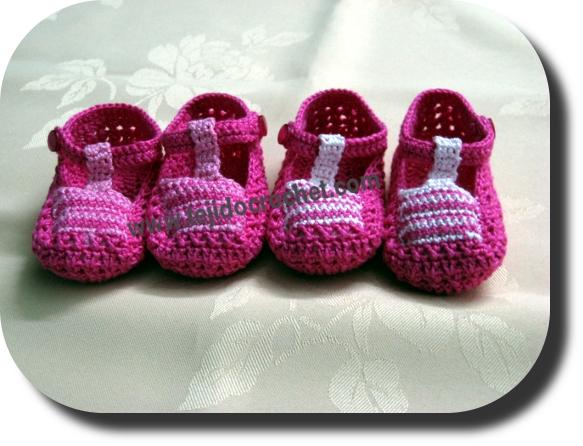 Escarpines tejidos a crochet