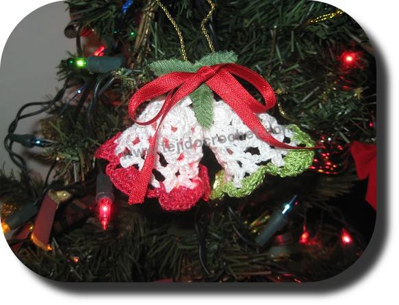 Campanas Crochet Navidad