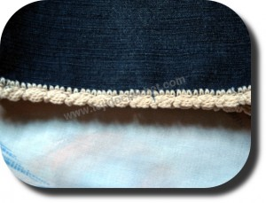 Puntilla a crochet para bermuda