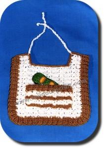 Babero tejido a crochet