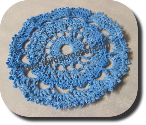 Posavaso tejido a crochet