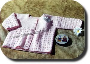 Saco bebe tejido a crochet