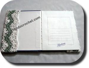 Solapa tapa cuaderno tejida a crochet