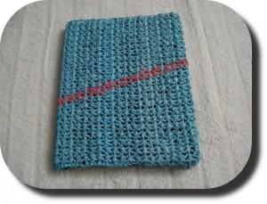 Tapa para cuaderno en tejido crochet