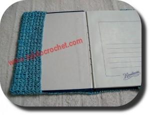 Solapa cuaderno en tejido crochet