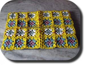 Tapa cuaderno en tejido crochet