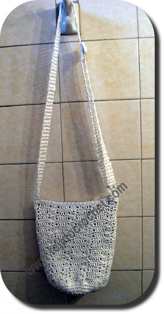 Bolso reciclado en tejido crochet