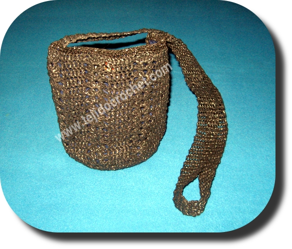 Bolso en tejido crochet