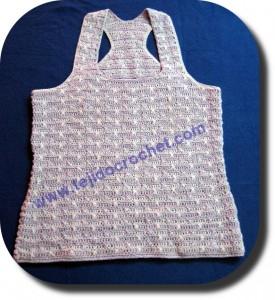 Musculosa en tejido crochet
