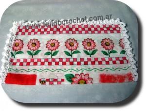 Puntilla de servilleta en tejido crochet