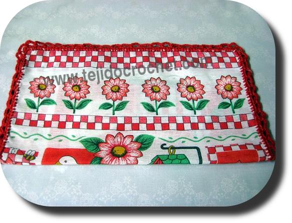 Puntilla de servilleta en tejido cochet