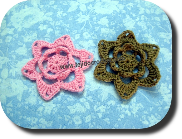 Flores en tejido crochet