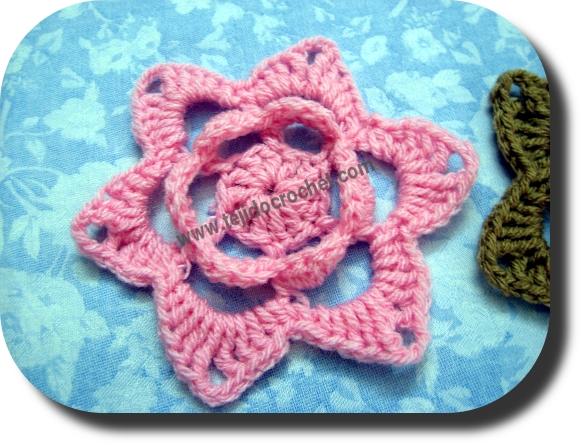 Flor en tejido crochet