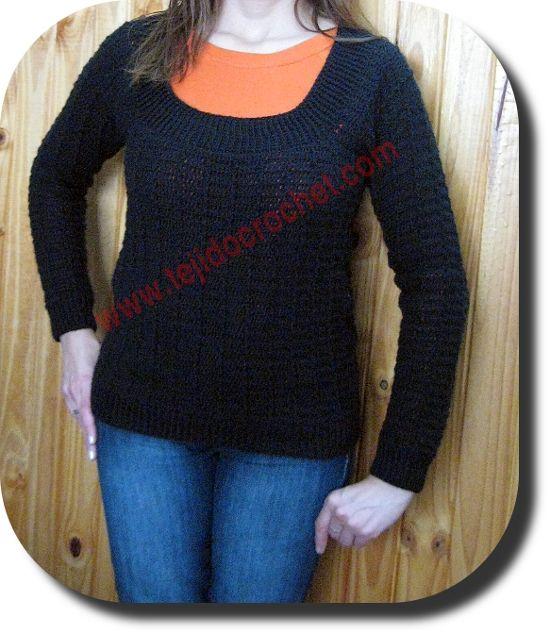 Sueter mujer en tejido crochet