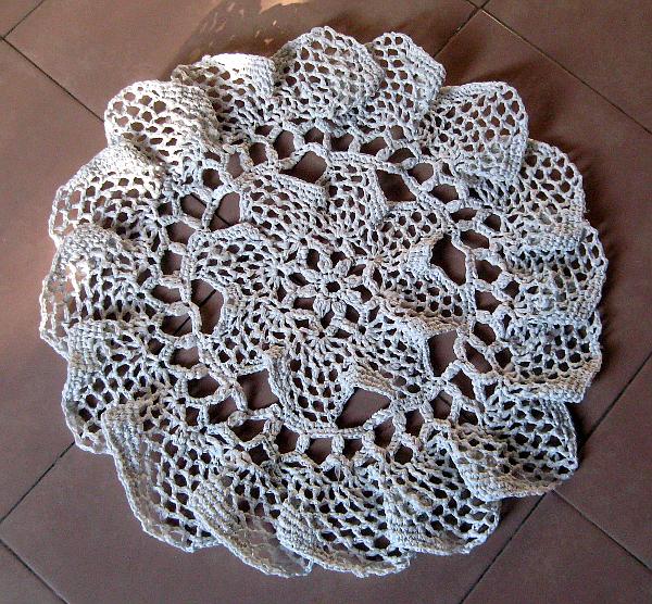 Carpeta redonda crochet