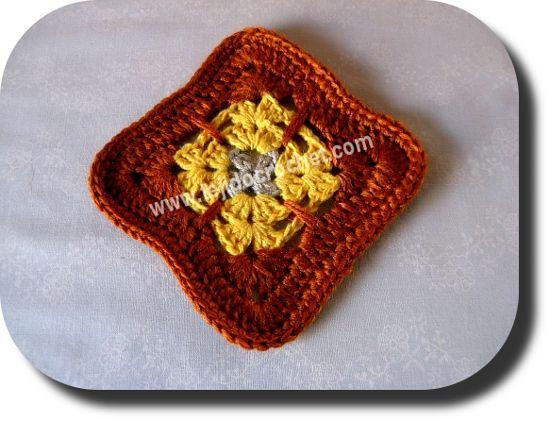 Motivo cuadrado a crochet