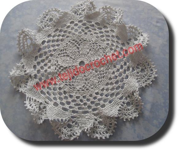 Carpeta en tejido crochet