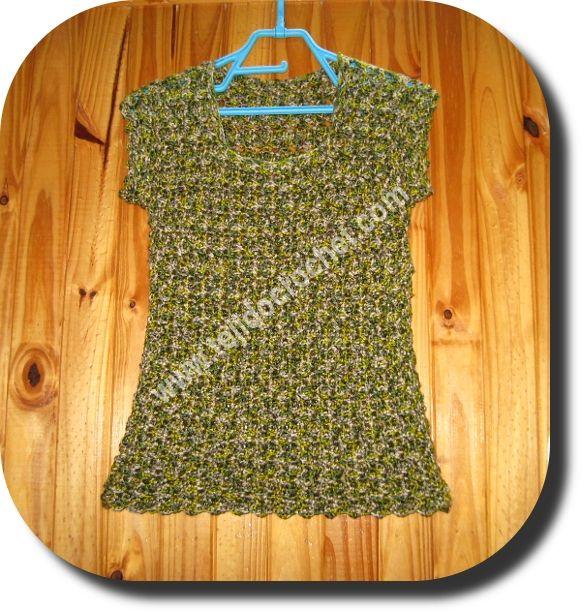 Chaleco matizado en tejido crochet