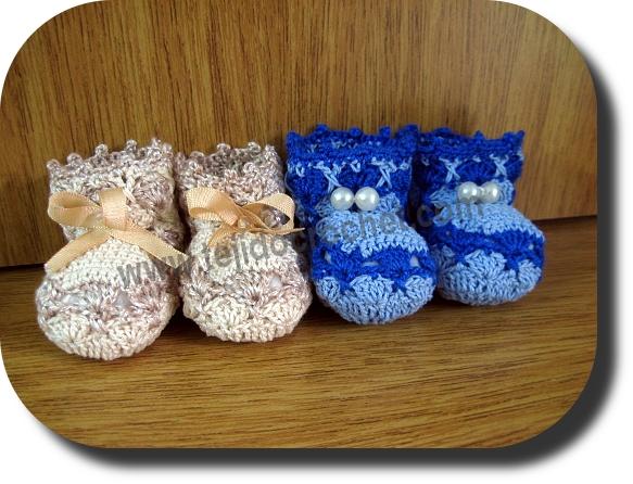 Escarpines bebe en tejido crochet