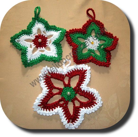 Estrellas crochet navidad