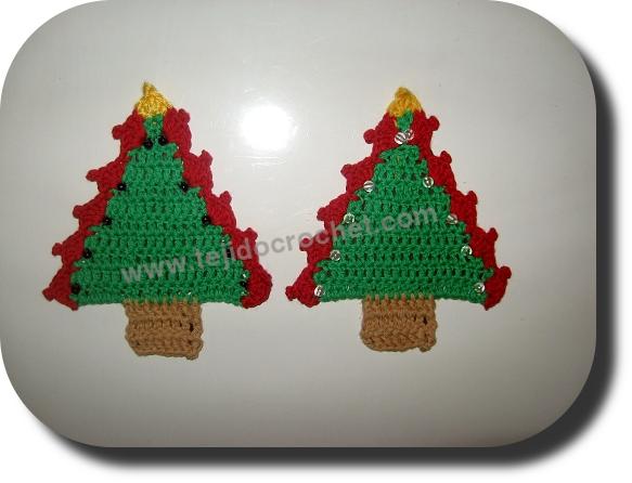 Arbolito navidad en tejido crochet