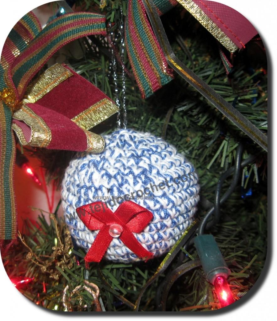 Bola de Navidad en tejido crochet