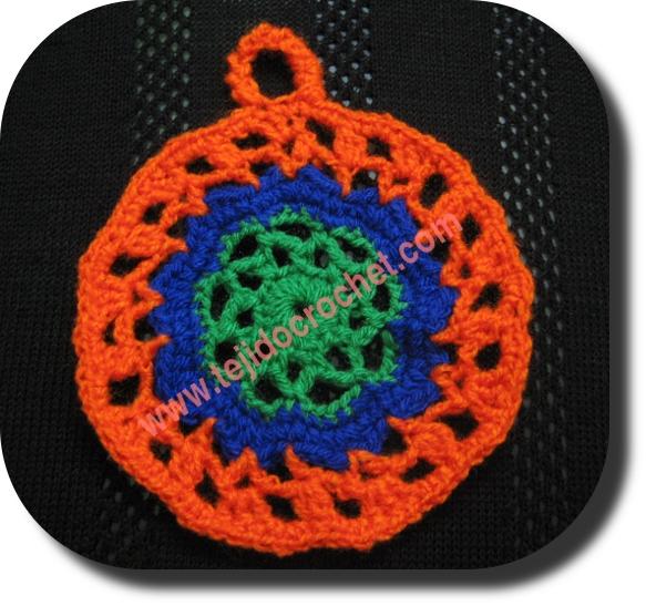 Agarradera en tejido crochet