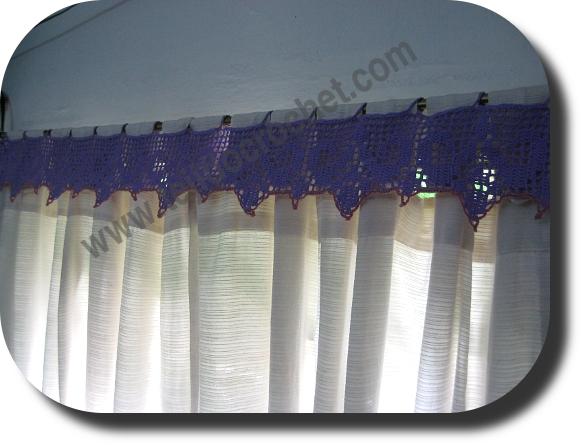 Puntilla en tejido crochet
