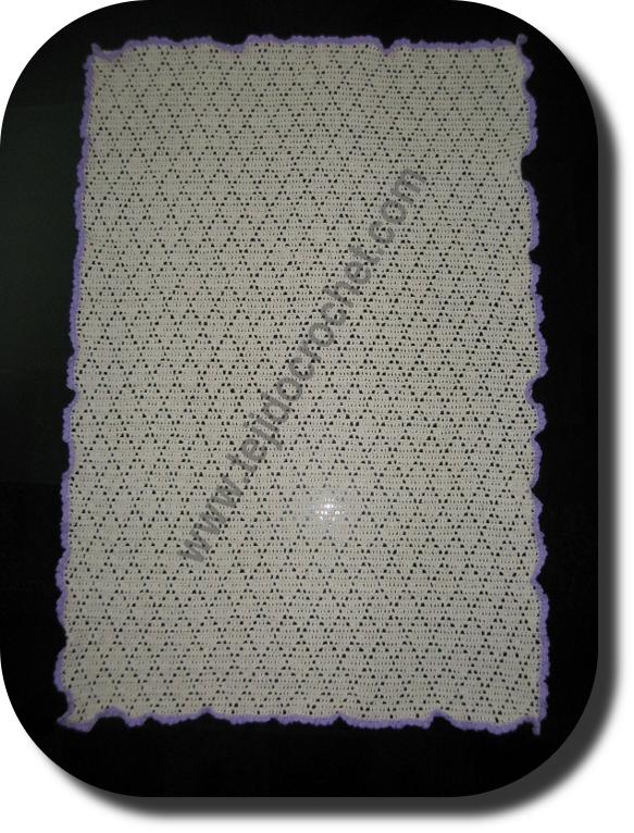 Camino de mesa en tejido crochet