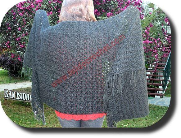 Chal Rectangular a crochet