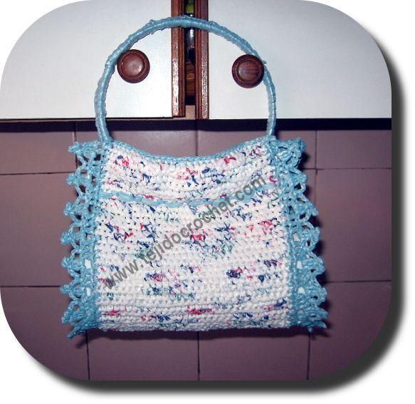 Porta rollo cocina a Crochet
