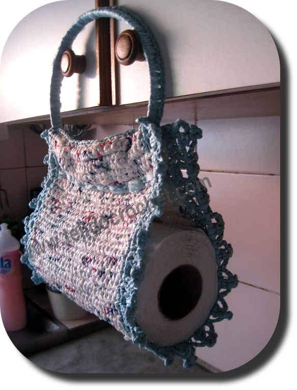 Porta rollo cocina crochet