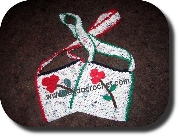carteras nenas en tejido crochet